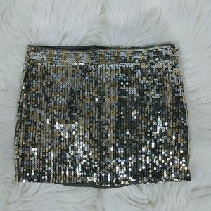 Abercrombie & Fitch Sequined Mini Skirt